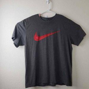 Nike Mens T-Shirt Gray Heathered Crew Neck  XL
